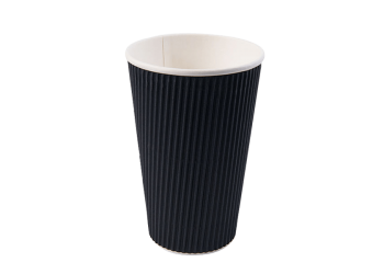 16oz-Ripple-Wall-Hot-Cup-Black