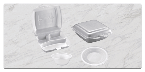 PS Foam Box, Plates and Bowls